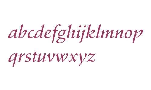 Stempel Schneidler Std Medium Italic