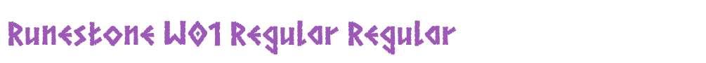Runestone W01 Regular