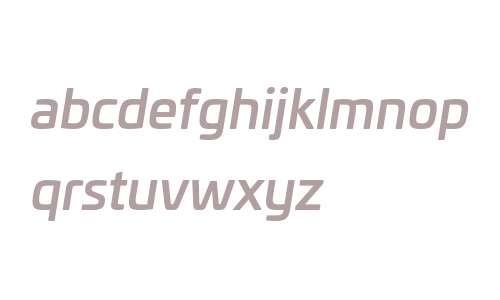 Univia W03 Medium Italic