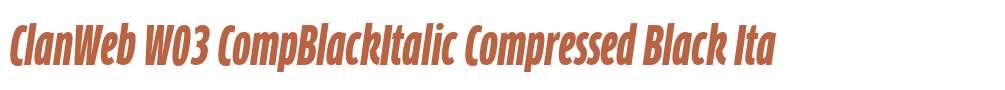 ClanWeb W03 CompBlackItalic