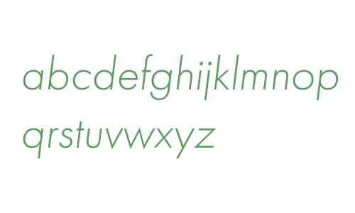 Futura PT Light Italic W08 Rg