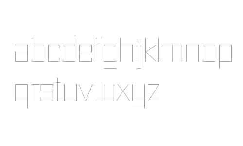 Just Square LT Std Cyrillic Ultra Thin