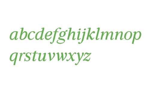 GHEA Aragast W10 Medium Italic