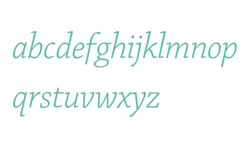 Chaparral Pro Light Italic Subhead