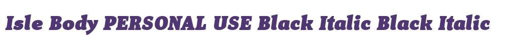 Isle Body PERSONAL USE Black Italic