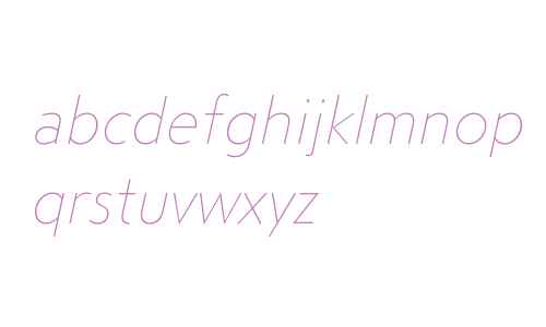 Steagal W01 Thin Italic