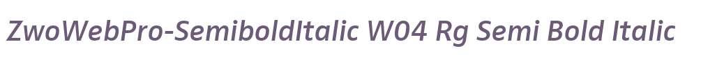 ZwoWebPro-SemiboldItalic W04 Rg