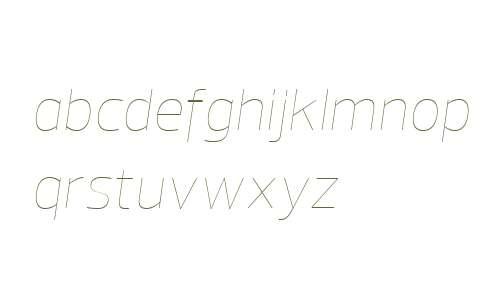 Prelo W04 Hairline Italic