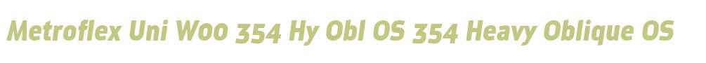 Metroflex Uni W00 354 Hy Obl OS
