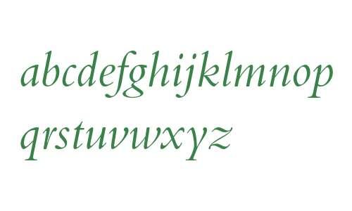 Bembo Italic Oldstyle Figures