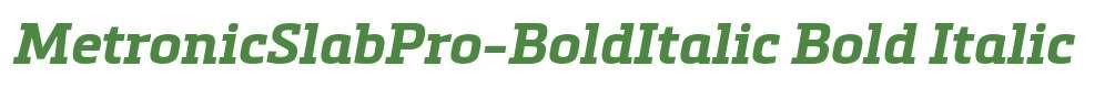 MetronicSlabPro-BoldItalic