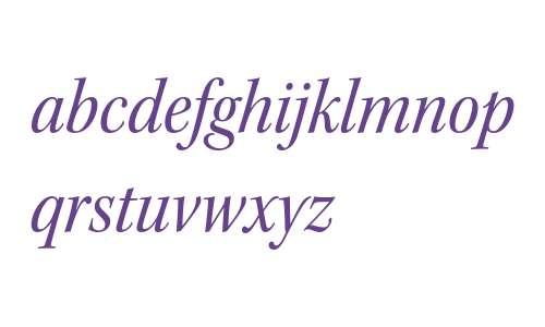 Kepler Std Semicondensed Italic Subhead