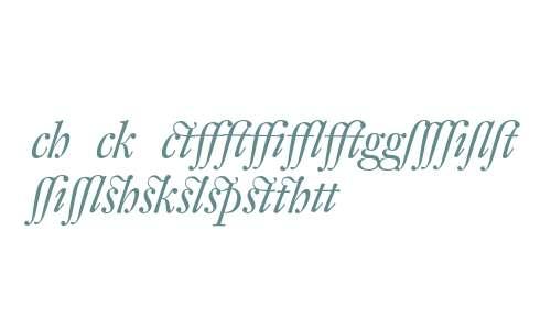 DTLFleischmannDAlternate-Italic