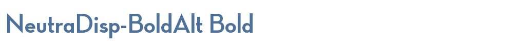NeutraDisp-BoldAlt