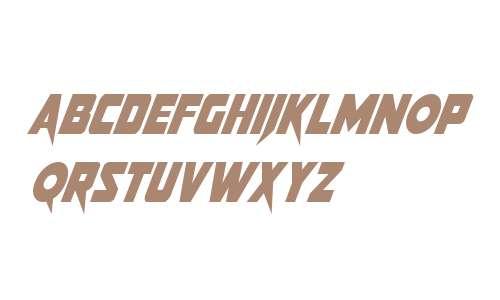 Pistoleer Condensed Super-Italic