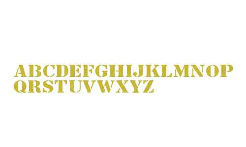 Just Another Stencil Font