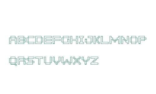 Pixelar Outline SC W01 Regular