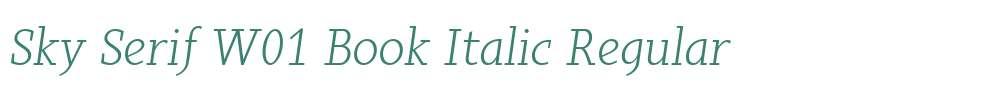 Sky Serif W01 Book Italic