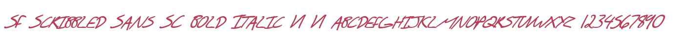 SF Scribbled Sans SC Bold Italic V1 V1