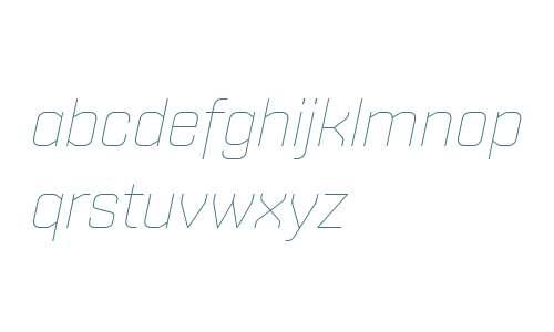 Shentox W04 Thin Italic