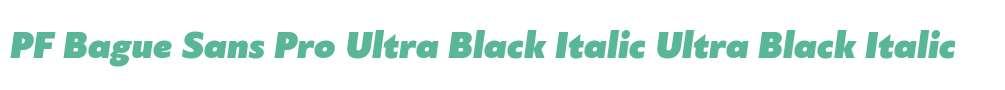 PF Bague Sans Pro Ultra Black Italic