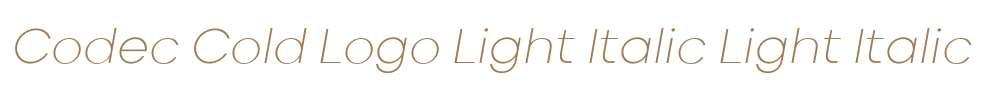 Codec Cold Logo Light Italic