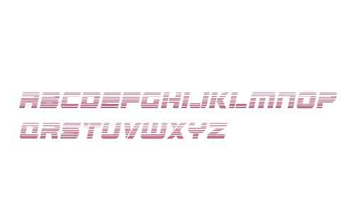 Edge Racer Gradient Italic