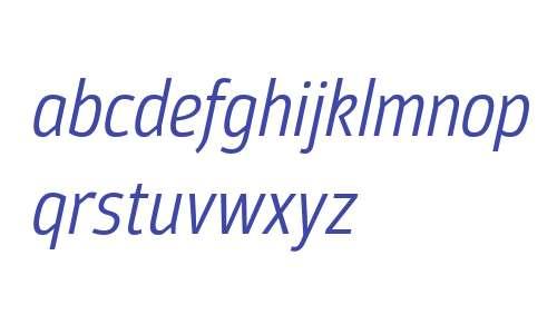 Moveo Sans Cond W00 Italic