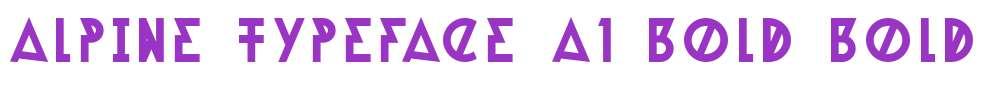 Alpine Typeface A1 Bold