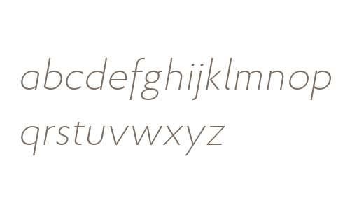 Proba W03 ExtraLight Italic