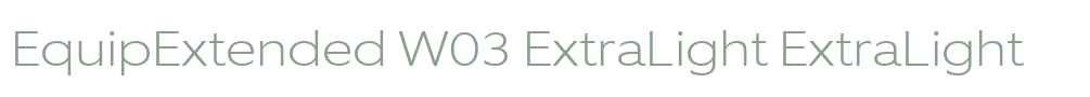 EquipExtended W03 ExtraLight