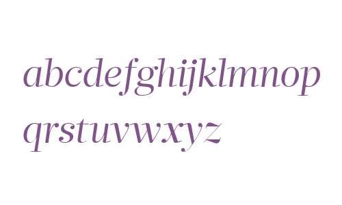 Glosa Display W04 Roman Italic