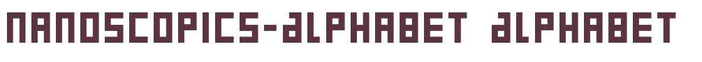 Nanoscopics-Alphabet