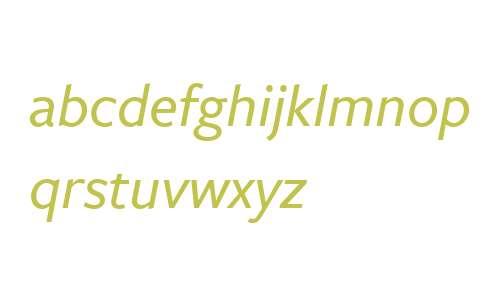 FreightSans W03 Medium Italic