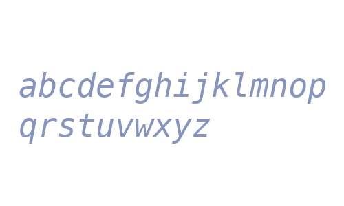 Menlo Italic