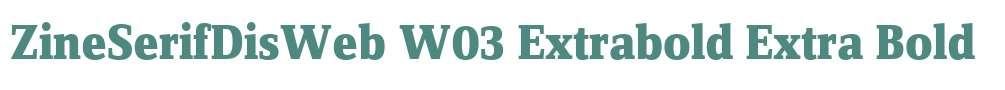 ZineSerifDisWeb W03 Extrabold