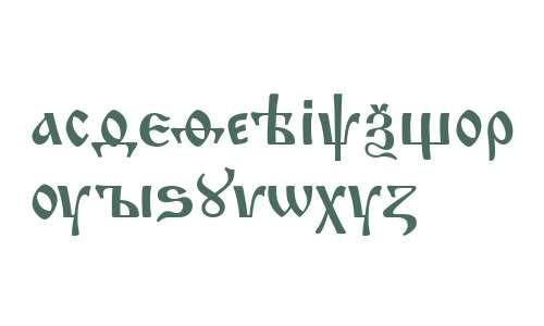 Izhitsa Cyrillic