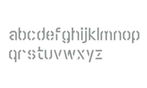 Scriber Bold Stencil