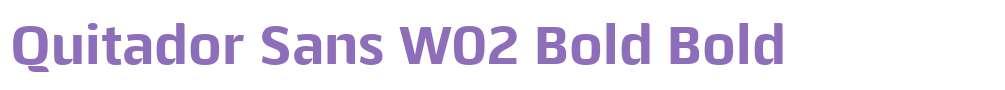 Quitador Sans W02 Bold