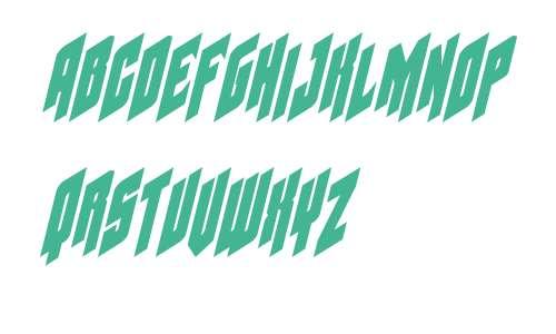 Galaxy Force Condensed Italic