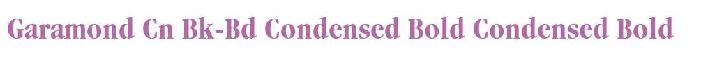 Garamond Cn Bk-Bd Condensed Bold