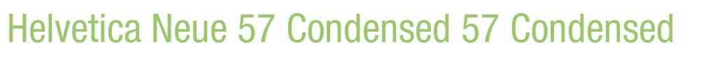 Helvetica Neue 57 Condensed
