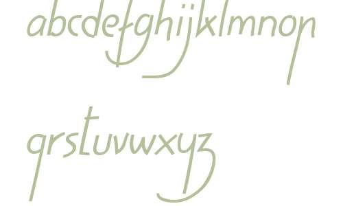 HighScript W01 40 Italic