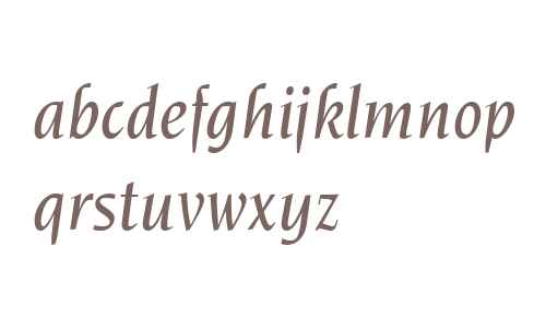 ITC Novarese W04 Medium Italic
