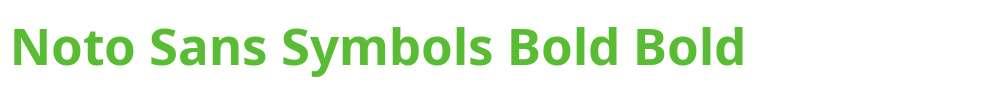 Noto Sans Symbols Bold