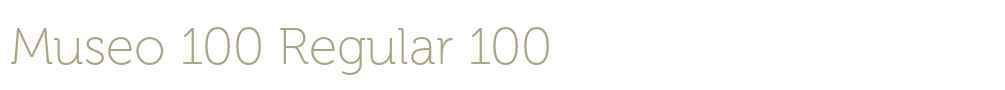 Museo 100 Regular