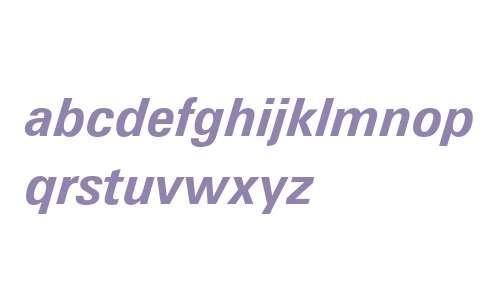 Zurich Bold Italic