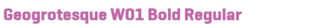 Geogrotesque W01 Bold