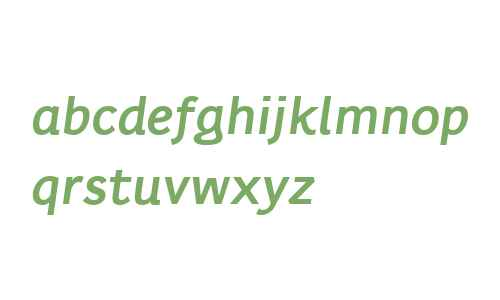 Karlo Sans W00 Bold Italic