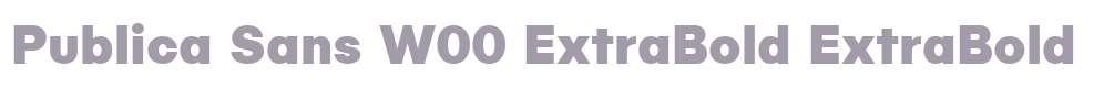 Publica Sans W00 ExtraBold